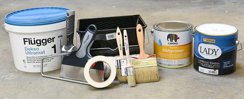 Salg af maling og redskaber
